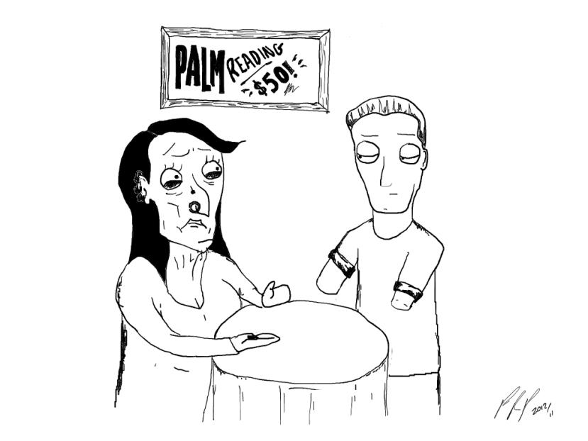 Palm Reading Comic